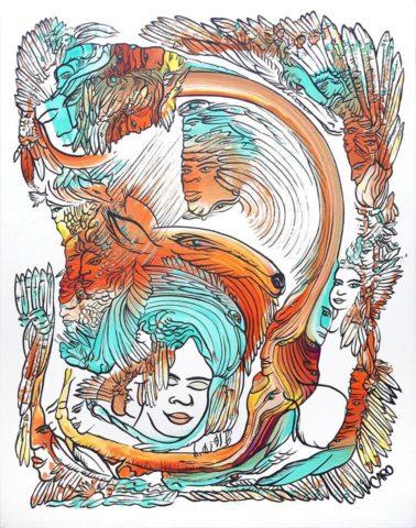 Votre Toile Énergétique Personnalisée - Caroline Piche - Artiste